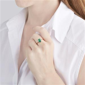 Zambian Emerald Ring  in 18k Gold 1.80cts
