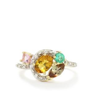 1.59ct Harlequin 10K Gold Ring