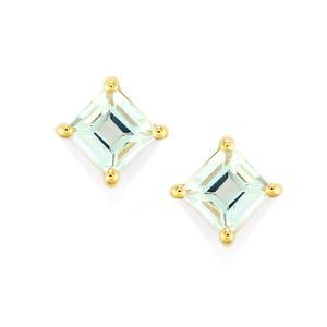 Pedra Azul Aquamarine Earrings in 10k Gold 1.10cts