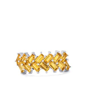 1.51ct Yellow Tourmaline Sterling Silver Ring
