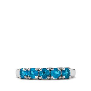 0.86ct Neon Apatite Sterling Silver Ring