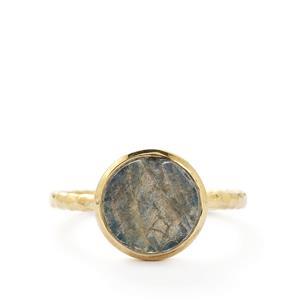 1.80ct Labradorite Vermeil Ring