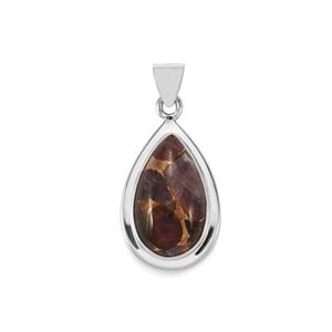 Copper Mojave Amethyst Pendant in Sterling Silver 16cts