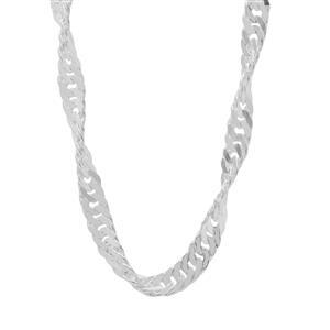 "16"" Sterling Silver Classico Diamond Cut Twisted Curb Chain 2.64g"