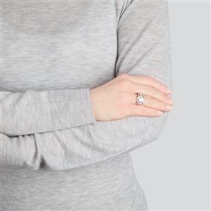 Diamond Ring in 10k White Gold 1ct