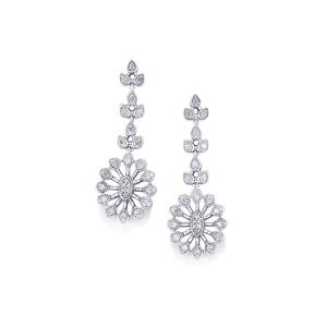Diamond Earrings in Sterling Silver 0.51ct