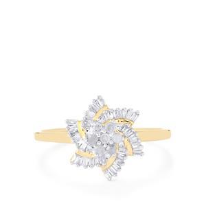 Diamond Ring  in 10k Gold 0.26ct