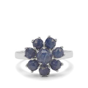 3.62ct Rose Cut Bharat Sapphire Sterling Silver Ring