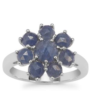 Rose Cut Bharat Sapphire Ring in Sterling Silver 3.62cts