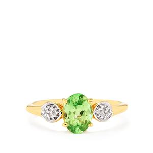 Ultraviolet Colour Change Garnet & Diamond 18K Gold Tomas Rae Ring MTGW 1.16cts
