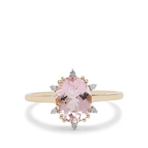 Cherry Blossom™ Morganite Ring with Diamond in 9K Gold 1.65cts