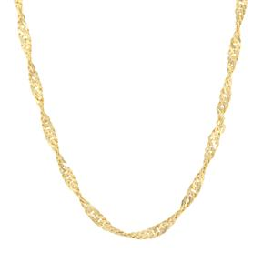 "30"" Midas Couture Diamond Cut Singapore Chain 3.11g"