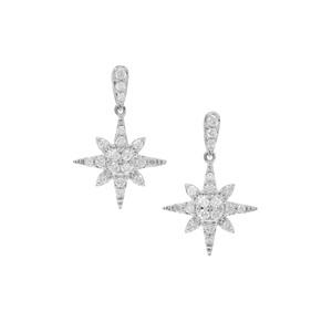 Canadian Diamond Earrings in 9K White Gold 0.76ct