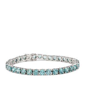 28.20ct Ratanakiri Blue Zircon Sterling Silver Bracelet