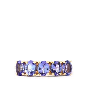 AA Tanzanite Ring in 9K Gold 1.71cts