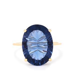 Baiyang Colour Change Fluorite Ring in 10K Gold 10.69cts
