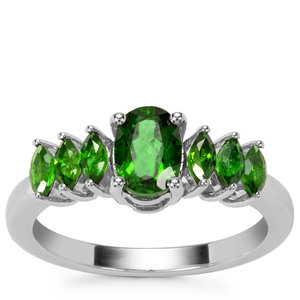 Chrome Diopside Ring in Sterling Silver 1.32cts