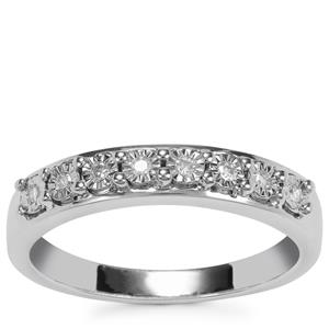 Diamond Ring in Sterling Silver 0.08ct