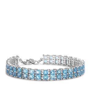 21.68ct Swiss Blue Topaz Sterling Silver Bracelet