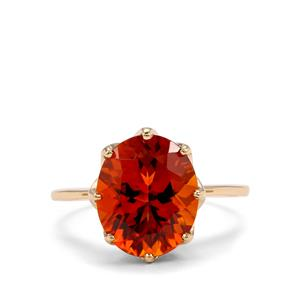 Madeira Citrine Ring  in 10k Gold 3.81cts