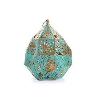 Gem Auras Moroccan Artisan Metal Lantern