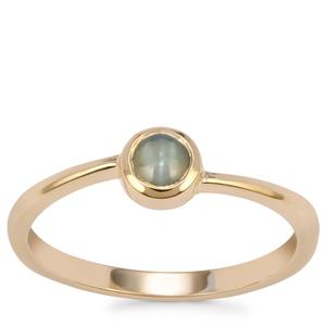 Cats Eye Alexandrite Ring in 9K Gold 0.38ct