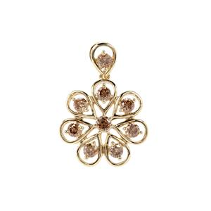 3/4ct Argyle Diamond 9K Gold Pendant