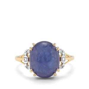 Tanzanite & Diamond 9K Gold Ring ATGW 6.53cts
