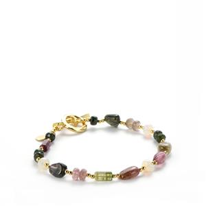 Rainbow Tourmaline Bracelet with Ethiopian Opal in Sterling Silver Sarah Bennett 26.72cts