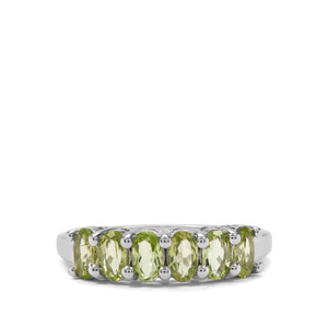 1.46ct Red Dragon Peridot Sterling Silver Ring