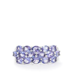 AA Tanzanite Ring in Sterling Silver 2.87cts