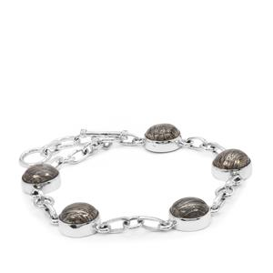 26.25ct Feather Pyrite Sterling Silver Aryonna Bracelet