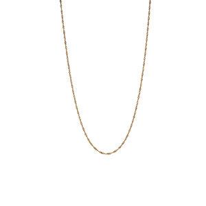 "18"" 9k Gold Classico Twist Curb Chain 0.65g"