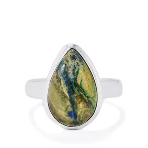 5.88ct Cyber Web Chrysocolla Sterling Silver Aryonna Ring