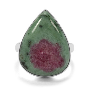18.54ct Ruby-Zoisite Sterling Silver Indus Valley Ring
