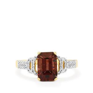 Colour Change Garnet & Diamond 18K Gold Tomas Rae Ring MTGW 3.09cts