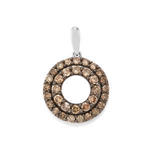 1ct Champagne Diamond Sterling Silver Pendant