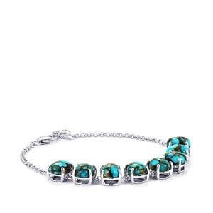 Egyptian Turquoise Bracelet in Sterling Silver 15.35cts