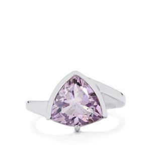 4.30ct Rose De France Amethyst Sterling Silver Ring
