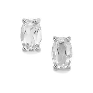0.92ct Cullinan Topaz Sterling Silver Earrings