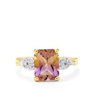 Anahi Ametrine & White Sapphire 10K Gold Ring ATGW 3.03cts