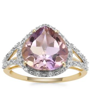 Anahi Ametrine Ring with White Zircon in 9K Gold 4.05cts