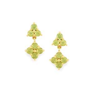 1.39ct Ambanja Demantoid Garnet 10K Gold Earrings
