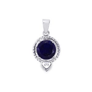 3.12ct Sar-i-Sang Lapis Lazuli Sterling Silver Pendant