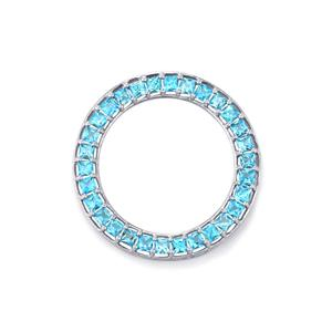 Swiss Blue Topaz Pendant in Sterling Silver 5.14cts