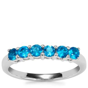 Neon Apatite Ring in Sterling Silver 0.62ct