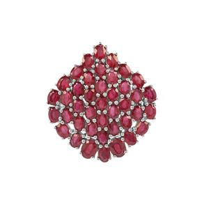 10.71ct Ruby Sterling Silver Pendant (F)