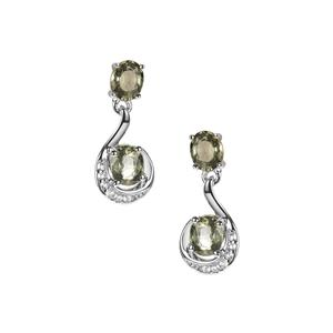 Tunduru Colour Change Sapphire Earrings with White Topaz in Sterling Silver 2.13cts