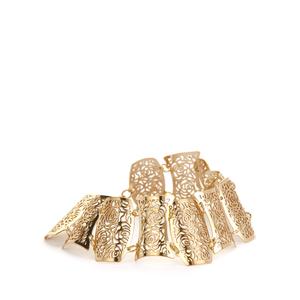 Gold Tone Sterling Silver Bayeux Bracelet 10.91g