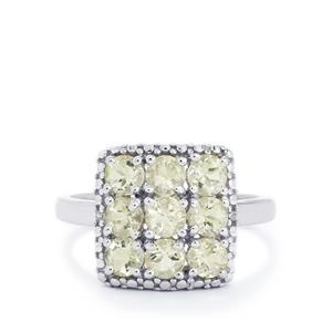 Serenite & Diamond Sterling Silver Ring ATGW 1.47cts